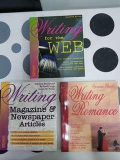 1) Writing Magazine & Newspoaper. Articles  2) Writing Romance. 3) Writing For the WEB