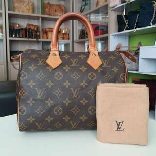 AUTHENTIC LOUIS VUITTON SPEEDY25 MADE IN FRANCE TINGGI 20CM X LEBAR 25CM GOOD CONDITION RM1750 C/W PADLOCK DATECODE INSIDE C.O.D USNASAPRELOVED http://www.wasap.my/60104550163