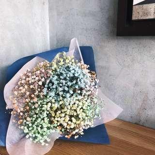 Flower Bouquet | Rainbow Baby's Breath