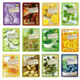 FOOD A HOLIC MASK SHEET MASKER PULP KOREA SKIN CARE