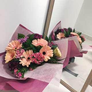 Flowers Bouquet | Gerbera, Dianthus barbatus