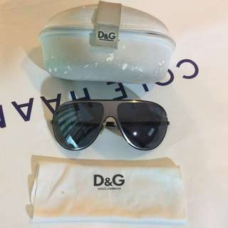 Preowned Dolce & Gabbana OVERSIZED Aviator Sunglasses Shades Sunnies SUPER COOL