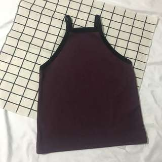 Haltered crop top small to medium high quality fabric
