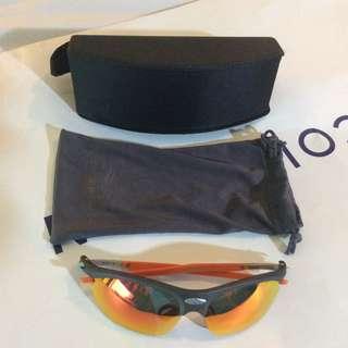LIKE NEW Rudy Project Sports Sunglasses ORANGE FLASH LENS