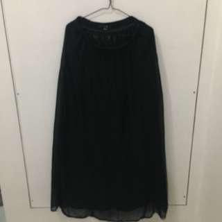 Forever 21 Sheer Long Skirt