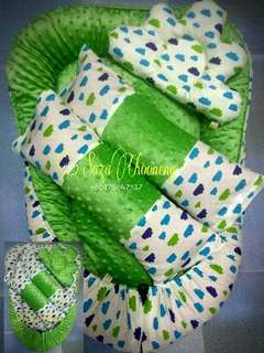 Baby Nest minku cloud green