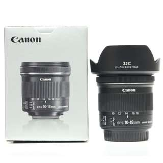 Canon EF-S 10-18mm f4.5-5.6 IS STM Lens (Still under 4 Months Canon Malaysia Warranty)