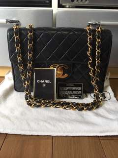 Authentic Chanel Lambskin Jumbo Flap