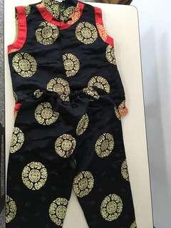 Traditional CNY cheongsam Mandarin suit for boys