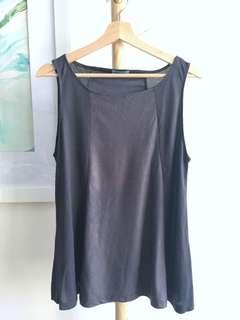 Kookai dark grey knit and suede top #kookaigorman