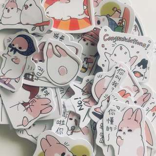 Cool bunny stickers