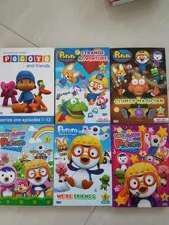 Pororo & Pocoyo(6pcs dvd)
