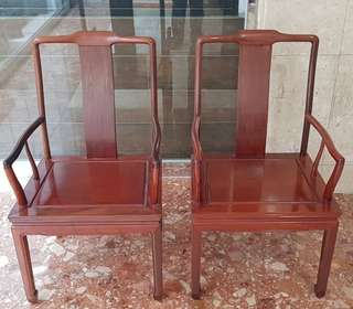 Rosewood chair (a pair)