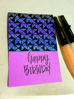 Handmade simple birthday card
