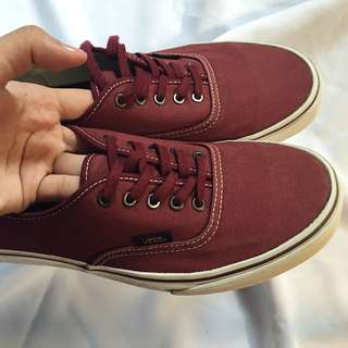 Vans Maroon Shoes