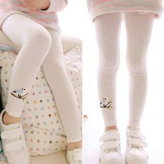 Kids Girls Embroidery Printing Tights Cotton Leggings Pants
