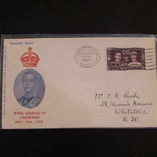 GB 1937 First Day Cover