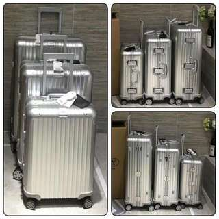 "Rimowa Topas Aluminium luggage and 20"" (32L), 26"" (68L), 28"" (82L), 30"" (85L)"