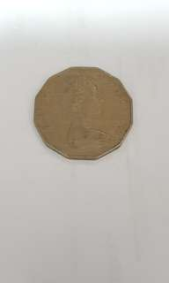 Queen Elizabeth II 50 Cents Coin