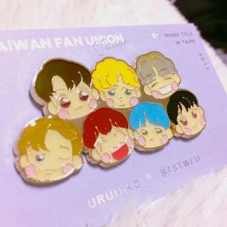 WTB Bts Fanart Metal Badge