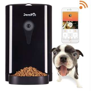 [IN-STOCKS] Jempet Petwant SmartFeeder Automatic Pet Feeder, Pet Food Dispenser for Dogs and Cats, Controlled by IPhone, Android or Other Smart Devices