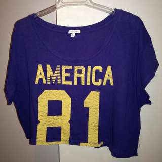 Blue F21 Crop Top