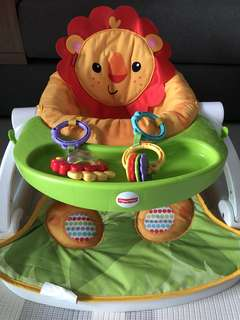 Fisher price sit-me-up floor seat with tray - lion
