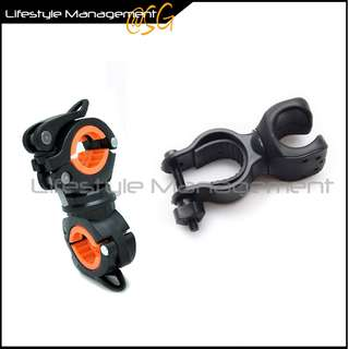 Bicycle/Torch/Torchlight/Light Mount Clip Clamp Bracket Holder 360 Rotation