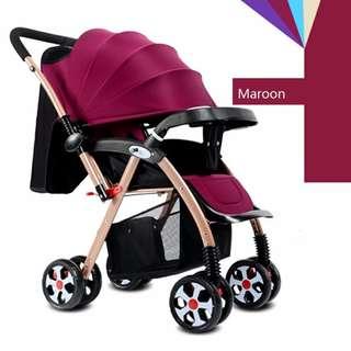 original Portable infant deluxe stroller folding aluminum alloy #518-6