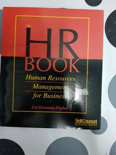 HR Book : Human Resources Management for Business