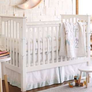 Pottery barn - rowan bumper & crib skirt