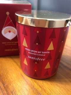 innisfree 2017心願滿滿 聖誕限定香氛蠟燭 柑橘🍊綠葉調