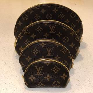 LV Makeup Cosmetic Bags x 4