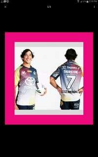 Queensland Cowboys jersey. Johnathan Thurston  testimonial
