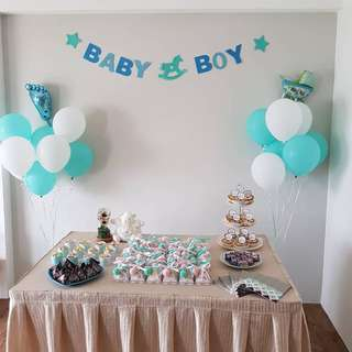 Baby boy banner for baby shower/ party