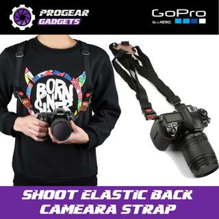 SHOOT Professional Elastic Black Shoulder Strap for Digital camera, Gopro, Xiaoyi, SJCAM etc