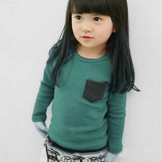 Kids Baby Girl Long Sleeve Tops Cotton Round Neck Tee Shirt Blouse