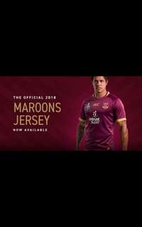 State of origin QUEENSLAND MAROONS JERSEY Size L & XL
