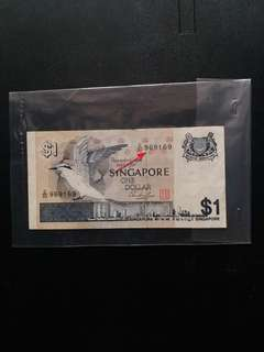 Prefix no. 9 head 9 tail Bird series $1 note