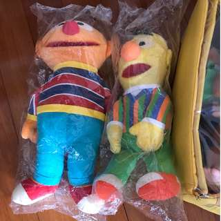 Sesame Street and the seven dwarfs stuffed toys