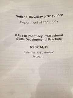 NUS Pharmacy Notes (per module)