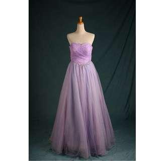 🚚 淺藍紫小拖尾晚禮服 二手禮服 約六到七成新  gowns wedding dress U