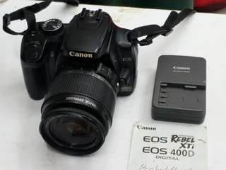 canon 400d w 18 55mm is lens