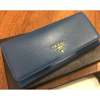 New Authentic Prada 1MH132 Saffiano Leather Long Wallet
