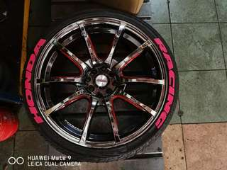 """18"""" wedspot with tyre like new"""