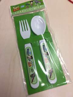 Toy Story plastic spoon and fork (local postage included)