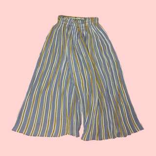 Stripes culottes/square pants