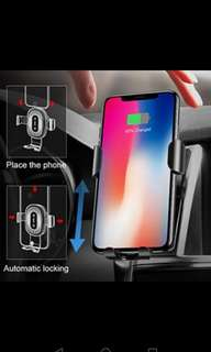 Baseus Qi Wireless Charger Gravity Car Mount Holder