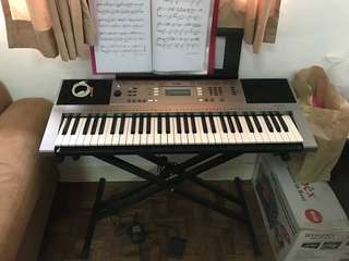 Yamaha PSR-E353 Keyboard (with DoubleX Stand, Sustain Pedal, Jack 3.5mm converter, Extension,Adapter)