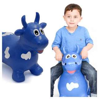 NEW original happy hopperz Inflatable bouncy animal with pump
